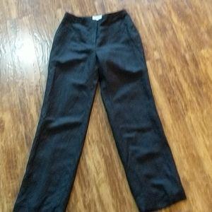 Calvin Klein Black Linen Blend Pants 6